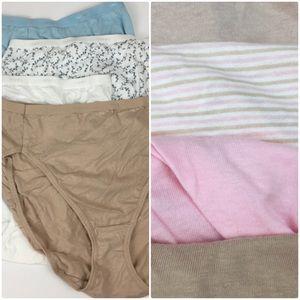 8 pairs Hanes hi cut & briefs bundle - C46